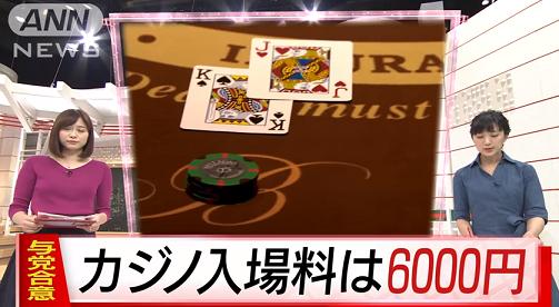 カジノ入場料6000円1