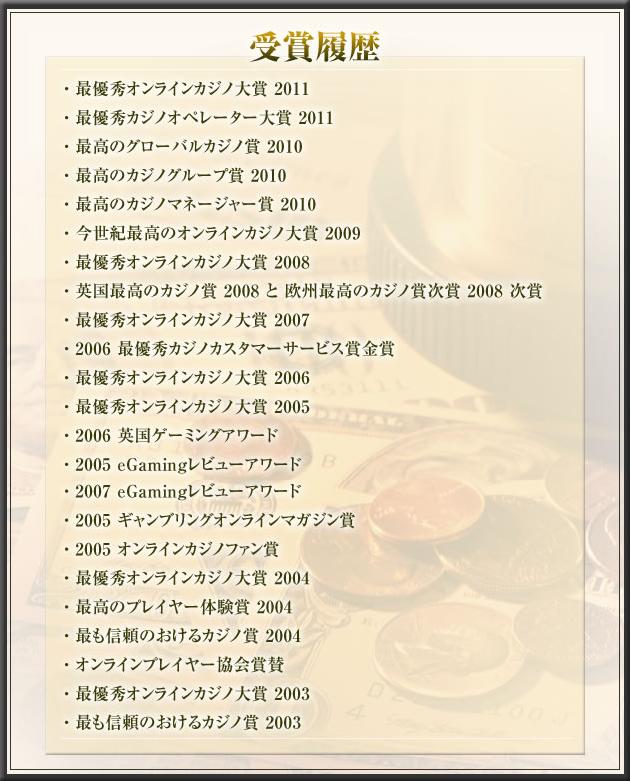 32レッドカジノ受賞歴