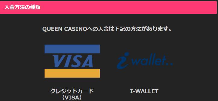 クイーンカジノ入金