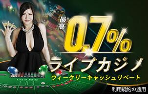 エンパイアカジノのライブカジノキャッシュバックキャンペーン