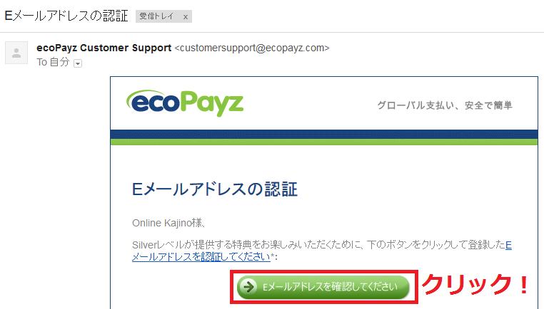 10ecopayzメール送信後認証