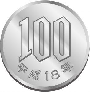 100円玉画像