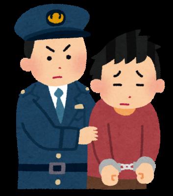 逮捕されてる人の画像