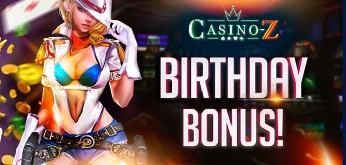 カジノZ誕生日ボーナス